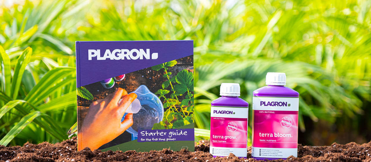 A starter guide 100% TERRA with two bottles of basic nutrients: Terra Grow 250ml and Terra Bloom 500ml